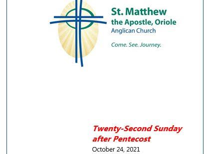 Twenty-Second Sunday after Pentecost