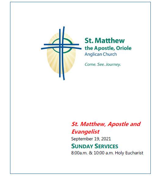 St. Matthew, Apostle and    Evangelist